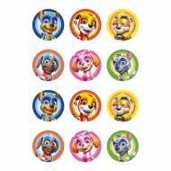 12 Stickers à Biscuits Pat Patrouille (5,8 cm) - Sucre
