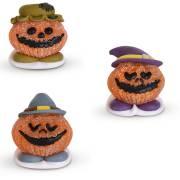3 Citrouilles Halloween (4 cm) - Sucre/ Sucre Gélifié