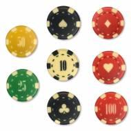 8 Jetons Casino (3,8 cm) - Chocolat Blanc