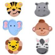 6 Têtes Animaux de la Jungle - Sucre