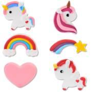 6 Décors Licorne Rainbow - Sucre