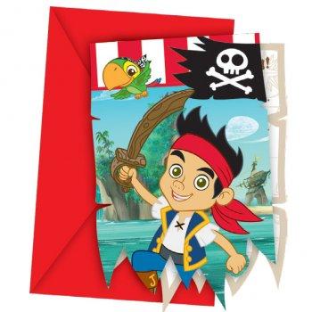 6 Invitations Jake le Pirate