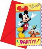 6 Invitations Mickey et ses amis