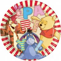 Contient : 1 x 8 Assiettes Winnie Party