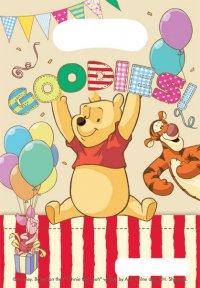 Contient : 1 x 6 Pochettes cadeaux Winnie Party