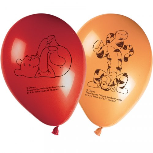8 Ballons Winnie Party