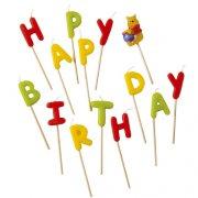 Bougies Happy Birthday Winnie