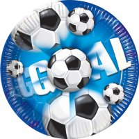 Contient : 1 x 10 Assiettes Goal Bleu