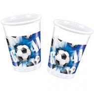10 Gobelets Goal Bleu