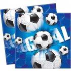 20 Serviettes Goal Bleu