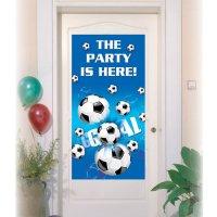 Contient : 1 x Affiche de porte Goal Bleu