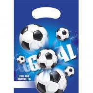 6 Pochettes cadeaux Goal Bleu
