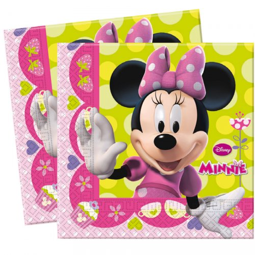 20 Serviettes Minnie Flowers