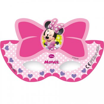 6 Masques Loup Minnie Flowers