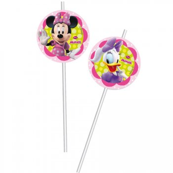6 Pailles Minnie Flowers