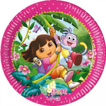 8 Assiettes Dora Aventure