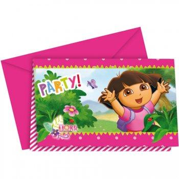 6 Invitations Dora Aventure