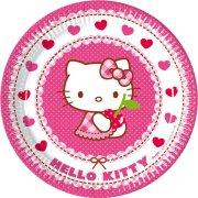 8 Assiettes Hello Kitty Cerise