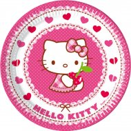8 Assiettes Hello Kitty Cerise