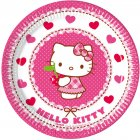 8 Petites Assiettes Hello Kitty Cerise
