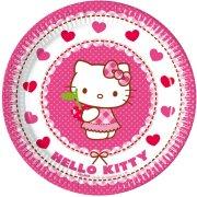 8 Petites Assiettes Hello Kitty Cerise