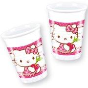 8 Gobelets Hello Kitty Cerise