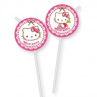6 Pailles Hello Kitty Cerise