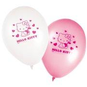 8 Ballons Hello Kitty Cerise