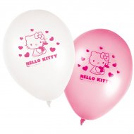 8 Ballons Hello Kitty Cerise
