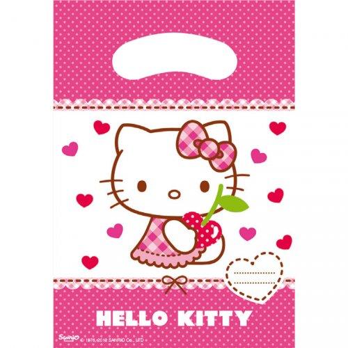 6 Pochettes cadeaux Hello Kitty Cerise