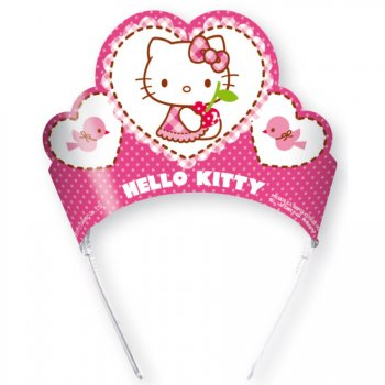 6 Couronnes Hello Kitty Cerise