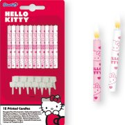 12 Bougies Hello Kitty Cerise