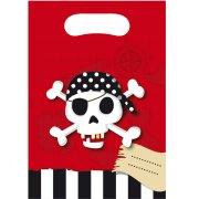 6 Pochettes Cadeaux Pirate Terreur