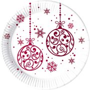 8 Assiettes Christmas Balls