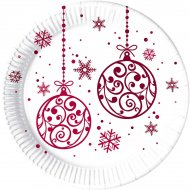8 Assiettes Christmas Balls