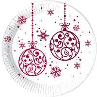 Contient : 1 x 8 Assiettes Christmas Balls