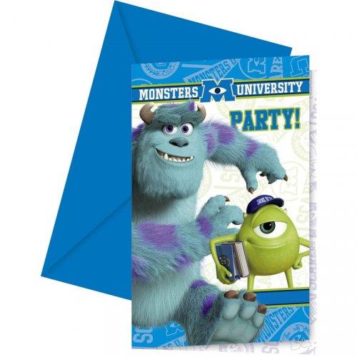 6 Invitations Monstres Academy