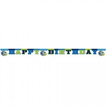 Guirlande lettres Happy birthday Monstres Academy