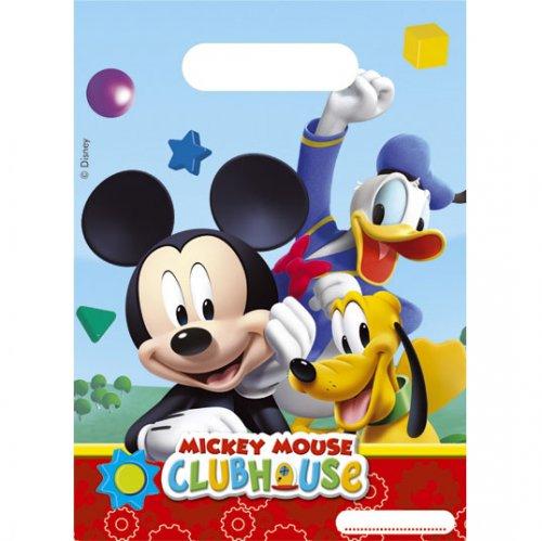 6 Pochettes cadeaux Mickey Party