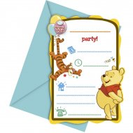 6 Invitations Winnie et ses amis