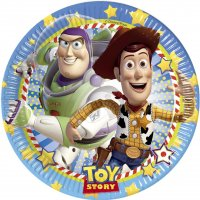 Contient : 1 x 8 Assiettes Toy Story Star Power