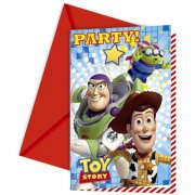 6 Invitations Toy Story Star Power