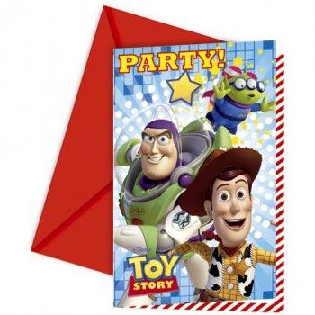 6 Invitations Toy Story Star Power