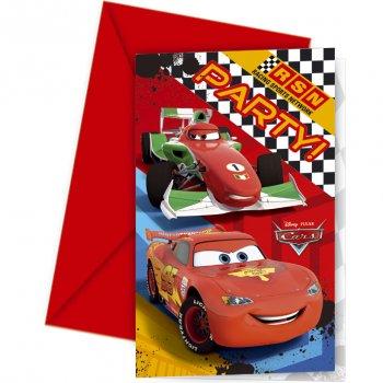 6 Invitations Cars RSN