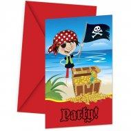 6 Invitations Little Pirates