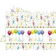 Nappe Happy Birthday Ballons Rainbow