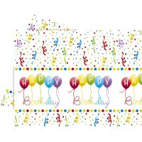 Contient : 1 x Nappe Happy Birthday Ballons Rainbow
