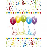 Contient : 1 x 6 Pochettes Cadeaux Happy Birthday Ballons Rainbow