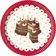 8 Assiettes Birthday Cake