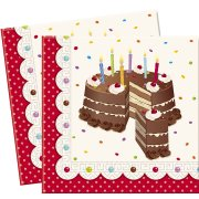20 Serviettes Birthday Cake